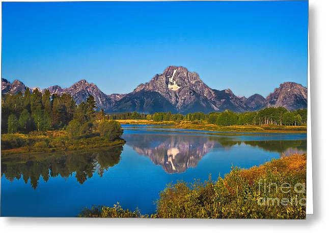 Haybales Greeting Cards - Oxbow Bend II Greeting Card by Robert Bales