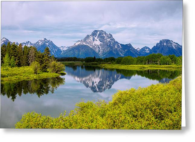 Summer Season Landscapes Greeting Cards - Oxbow Summer Greeting Card by Chad Dutson