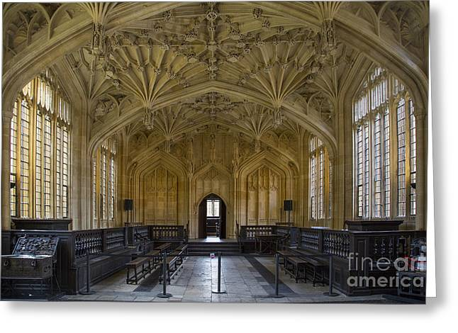 Lecturing Greeting Cards - Oxford - Divinity School Greeting Card by Brian Jannsen
