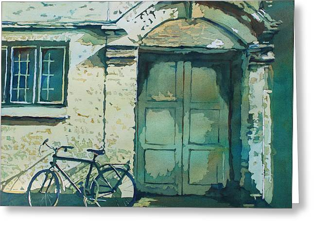 Europe Paintings Greeting Cards - Oxford Bike Greeting Card by Jenny Armitage