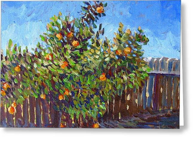 Stockton Paintings Greeting Cards - Oxford Citrus Greeting Card by Vanessa Hadady BFA MA