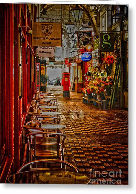 Pillar Box Greeting Cards - Oxford Covered Market HDR Greeting Card by Terri  Waters