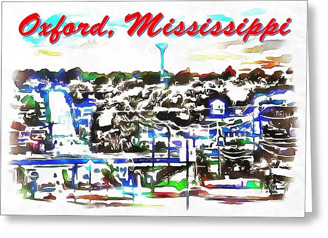 Print On Canvas Greeting Cards - Oxford Mississippi 38655 Greeting Card by Catherine Lott