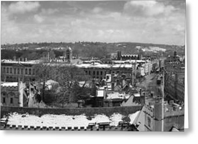 Black Top Greeting Cards - Oxford Panorama Greeting Card by Nomad Art And  Design
