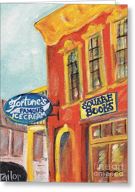 Sec Paintings Greeting Cards - Oxford Square Books Greeting Card by Tay Morgan