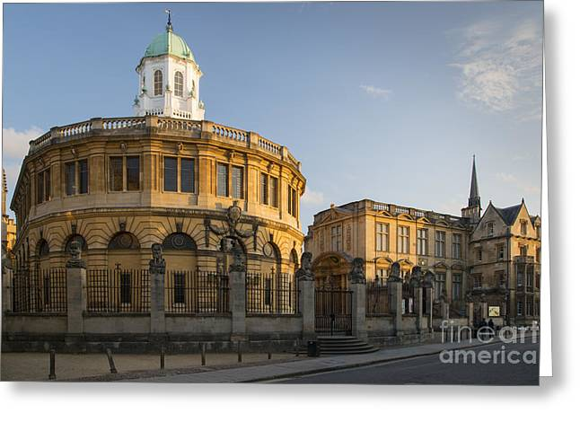 Academic Art Greeting Cards - Oxford Theatre Greeting Card by Brian Jannsen