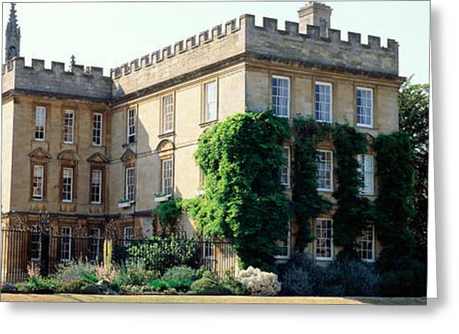 Historical Buildings Photographs Greeting Cards - Oxford University, New College Greeting Card by Panoramic Images