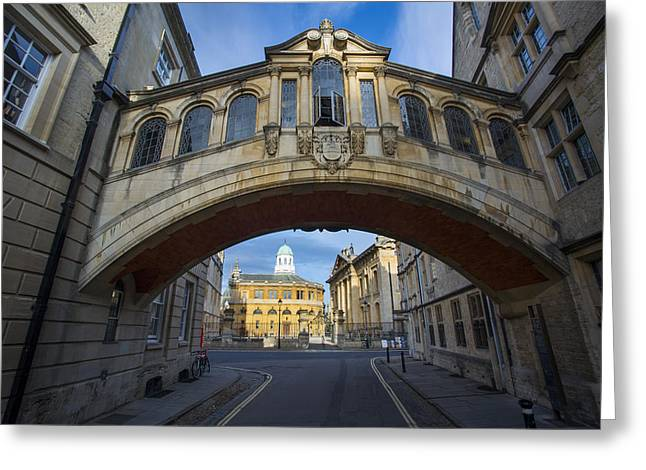Sighs Greeting Cards - Oxfords Bridge of Sighs Greeting Card by Brian Jannsen