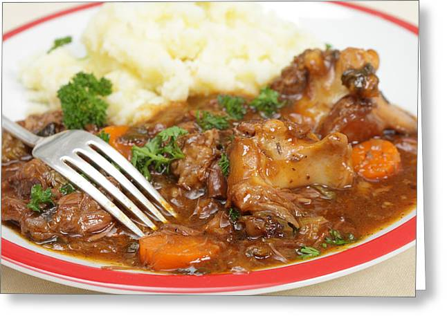 Stew Greeting Cards - Oxtail stew Greeting Card by Paul Cowan