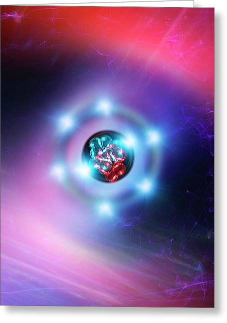 Oxygen Atom Greeting Card by Richard Kail