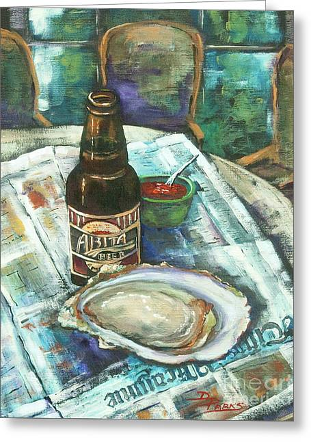 Raw Greeting Cards - Oyster and Amber Greeting Card by Dianne Parks