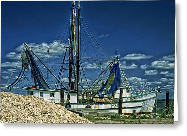 Seasons.net Greeting Cards - Oyster Boat in North Carolina Greeting Card by Mountain Dreams