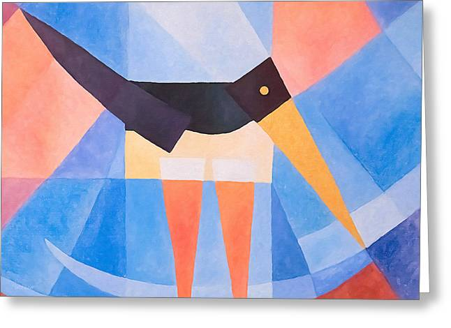 Baar Greeting Cards - Oystercatcher Deco Greeting Card by Lutz Baar
