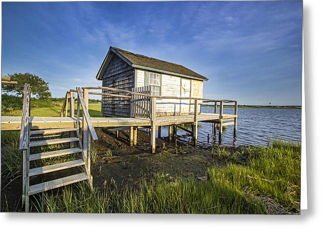 Oysterponds Creek Orient Ny Greeting Card by Robert Seifert