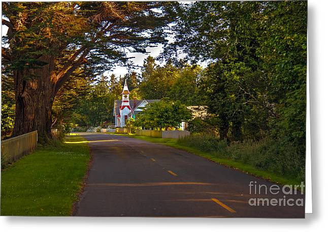 Oysterville Church Framed Greeting Card by Robert Bales