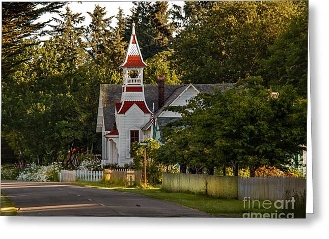 National Historic District Greeting Cards - Oysterville Church Greeting Card by Robert Bales