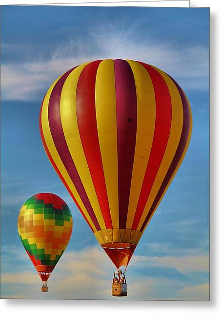 Hot Air Balloon Ride Greeting Cards - Oz Greeting Card by Dan Sproul
