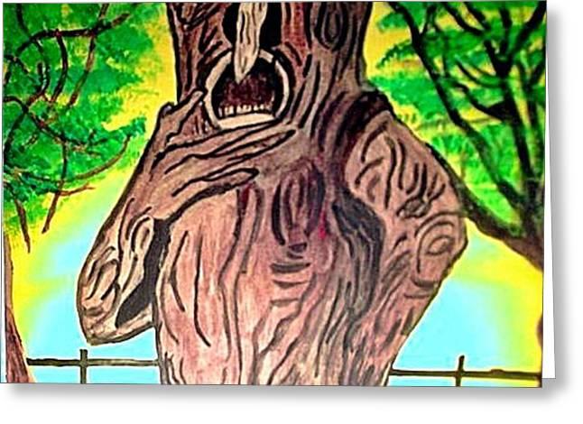 OZ GRUMPY APPLE TREE Greeting Card by Jo-Ann Hayden