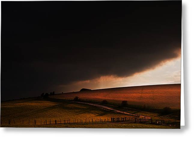 Colorful Cloud Formations Greeting Cards - Oz in Kansas Greeting Card by Matthew Gibson