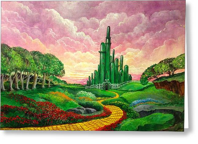 Paradise Road Greeting Cards - Oz Revisited Greeting Card by Randy Burns