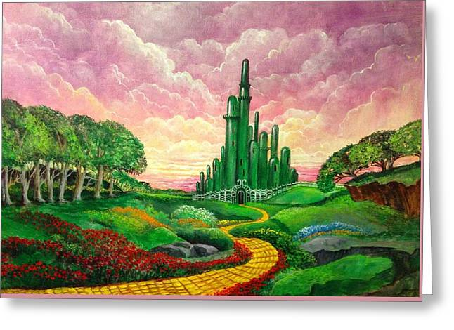 Paradise Road Paintings Greeting Cards - Oz Revisited Greeting Card by Randy Burns