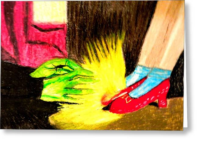 Characters Pastels Greeting Cards - Oz The Ruby Slippers Greeting Card by Jo-Ann Hayden
