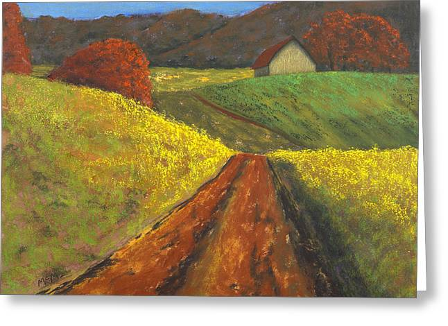 Rural Scene Pastels Greeting Cards - Ozark Barn Aurumn Greeting Card by Garry McMichael