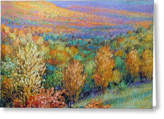 Arkansas Paintings Greeting Cards - Ozark Fall Greeting Card by Henry David Potwin