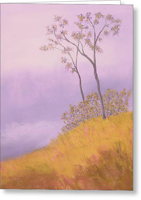 Fog Pastels Greeting Cards - Ozark Glade Greeting Card by Garry McMichael