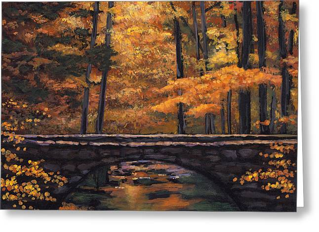 Autumn Landscape Paintings Greeting Cards - Ozark Stream Greeting Card by Johnathan Harris