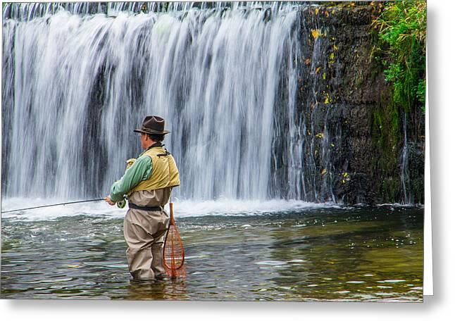 Catch And Release Greeting Cards - Ozark Trout Fishing of Missouri Greeting Card by Steven Bateson