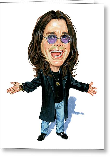Heavy Metal Music Greeting Cards - Ozzy Osbourne Greeting Card by Art