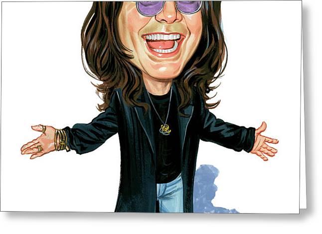 Ozzy Osbourne Greeting Card by Art