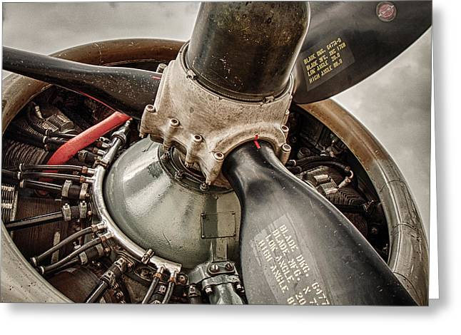 Cockpit Greeting Cards - P-17 Prop Greeting Card by Mike Burgquist