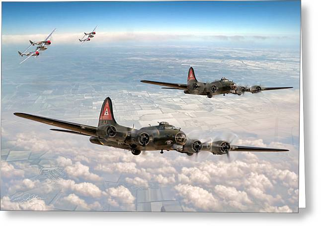 Historic England Greeting Cards - P-38 Close Cover Greeting Card by Peter Chilelli