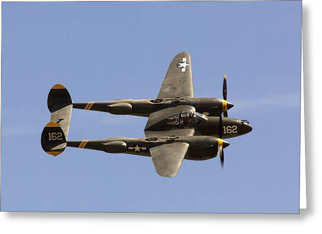 Lightning Photographer Greeting Cards - P-38 Lightning Greeting Card by John Daly