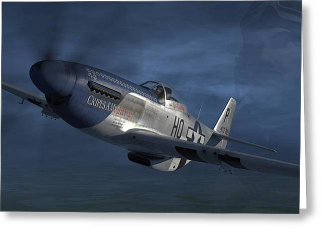P-51 Ace George Preddy Greeting Card by Robert Perry