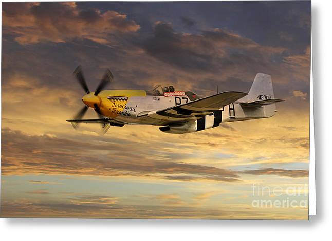 Ferocious Frankie Greeting Cards - P-51 Ferocious Frankie Greeting Card by J Biggadike