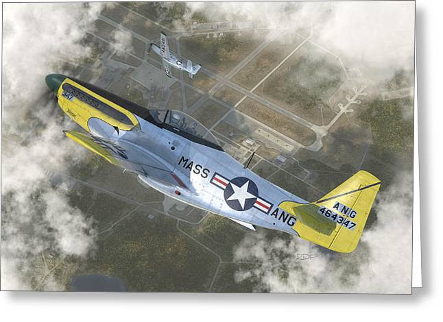 P-51 H Greeting Card by Robert Perry