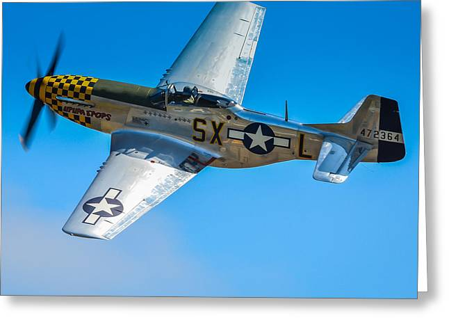 Heritage Foundation Greeting Cards - P-51 Mustang Break Out Roll Greeting Card by Puget  Exposure