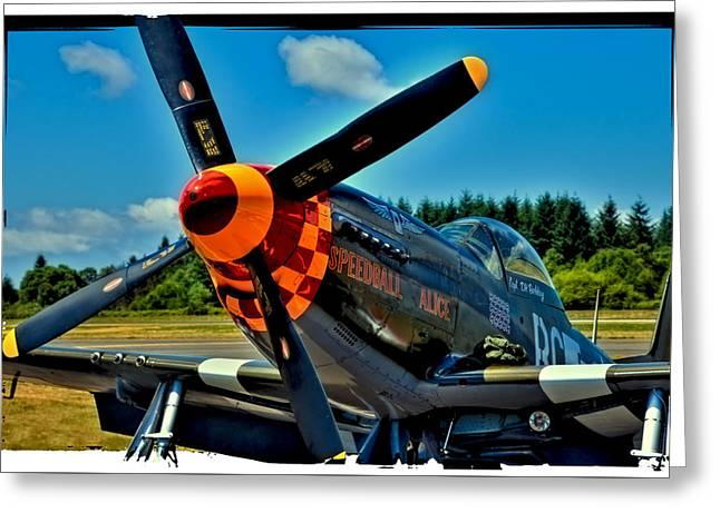 Speedball Greeting Cards - P-51 Mustang Greeting Card by David Patterson