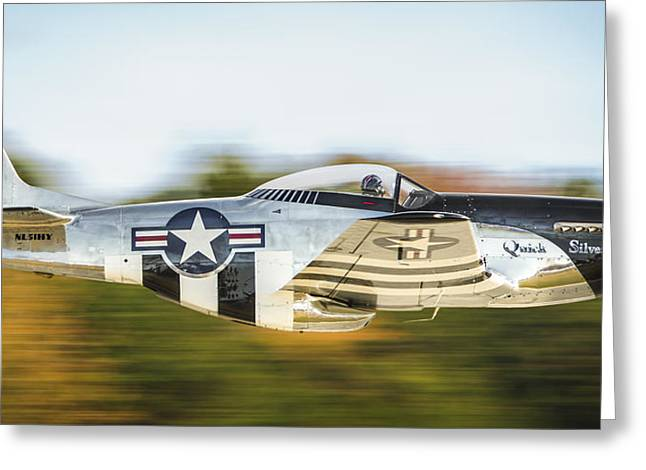 P-51 Mustang Flyby Greeting Card by Brian Young