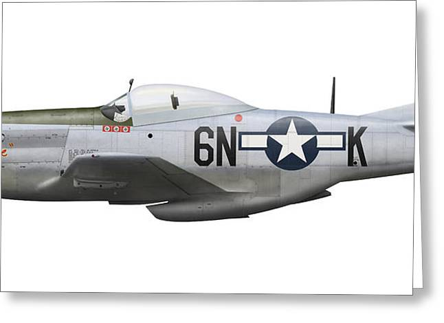 Vector Image Greeting Cards - P-51d Mustang, Nicknamed Baby Mine Greeting Card by Inkworm