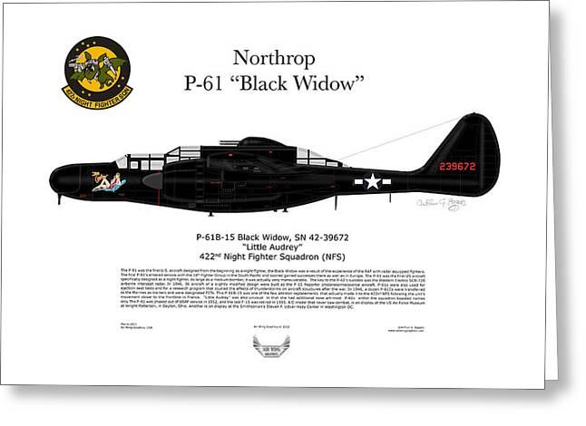 P-61B Black Widow Greeting Card by Arthur Eggers