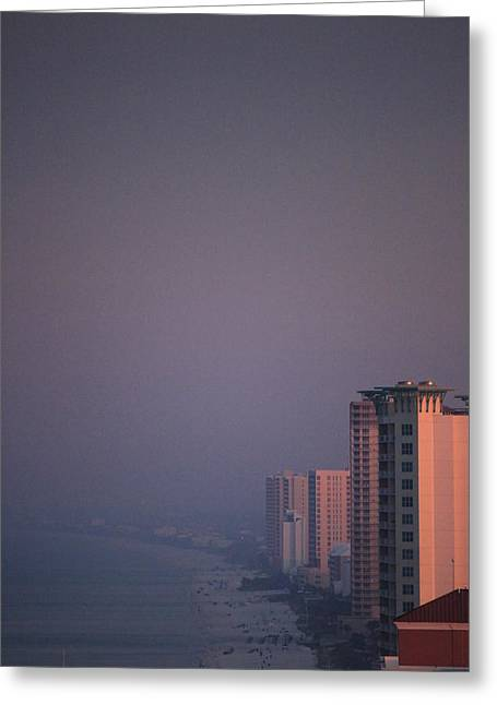 Panama City Beach Greeting Cards - Panama City Beach in the morning mist Greeting Card by Jennifer Doll