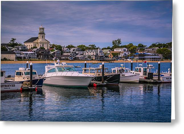 Town Pier Greeting Cards - P-Town Harbor Greeting Card by Susan Candelario