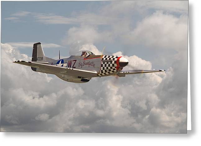 D Day Greeting Cards - P51 - Doll Greeting Card by Pat Speirs