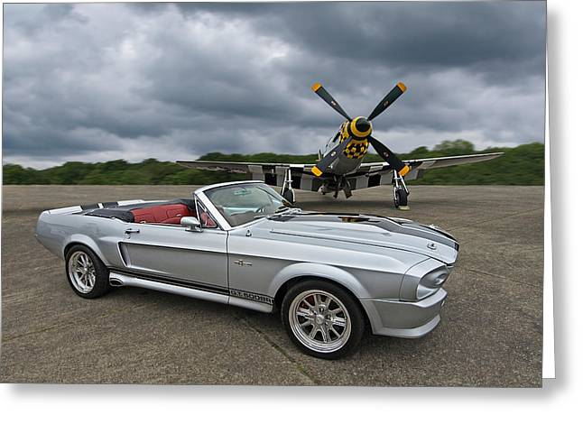 P51 Photographs Greeting Cards - P51 Meets Eleanor Greeting Card by Gill Billington