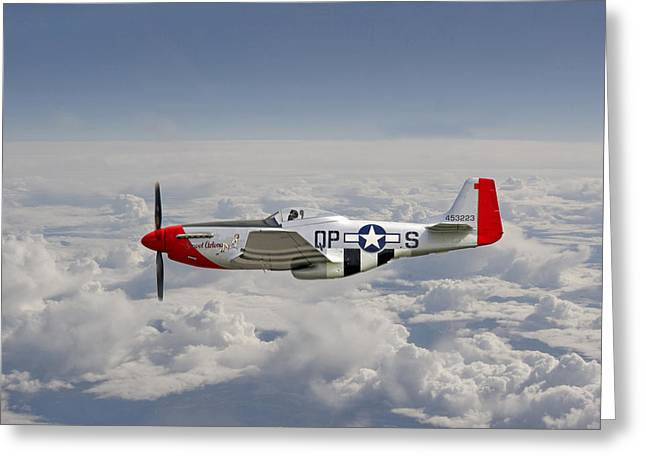 4th Digital Art Greeting Cards - P51 Mustang Gallery - No4 Greeting Card by Pat Speirs