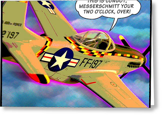 P51 Mustang Greeting Card by Gary Grayson